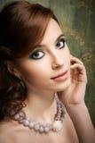 Portrait der recht jungen Frau Lizenzfreie Stockfotografie