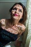 Portrait der reizend jungen Frau Stockbilder