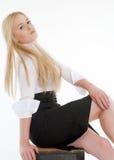 Portrait der reizvollen blonden Frau Lizenzfreies Stockfoto