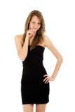 Portrait der reizvollen Frau im eleganten Kleid Stockfotos
