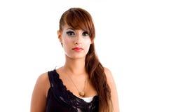 Portrait der reizvollen Frau mit dem schönen Haar Lizenzfreie Stockfotos