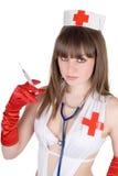 Portrait der reizvollen Krankenschwester Stockbilder