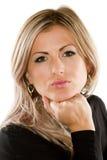Portrait der reizvollen russischen blonden Frau Stockfotografie