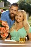Portrait der romantischen jungen Paare Stockfotos
