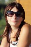 Portrait der ruhigen Frau Stockbilder