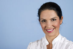 Portrait der schönen überzeugten Geschäftsfrau Lizenzfreie Stockbilder