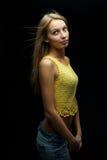 Portrait der schönen Blondine Lizenzfreie Stockfotos