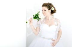 Portrait der schönen Braut lizenzfreie stockfotos