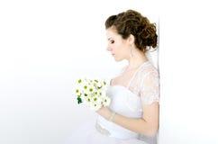 Portrait der schönen Braut stockfotos