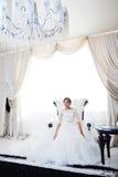 Portrait der schönen Braut kleid Lizenzfreie Stockfotografie