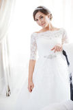 Portrait der schönen Braut kleid Lizenzfreies Stockfoto