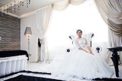 Portrait der schönen Braut kleid Stockfotos