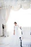 Portrait der schönen Braut kleid Stockbilder