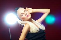 Portrait der schönen Dame Stockfoto