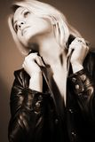 Portrait der schönen Frau Lizenzfreie Stockfotos