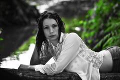 Portrait der schönen Frau Stockbilder