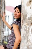 Portrait der schönen Frau an im Freien Lizenzfreie Stockfotos