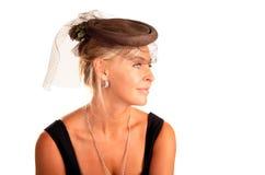 Portrait der schönen Frau mit einem Schleier Lizenzfreie Stockfotografie