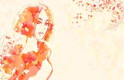 Portrait der schönen Frauen Stockbild