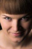 Portrait der schönen Frauennahaufnahme Lizenzfreies Stockfoto