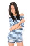 Portrait der schönen jungen asiatischen Frau Lizenzfreie Stockfotografie