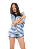 Portrait der schönen jungen asiatischen Frau Stockbilder