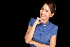 Portrait der schönen jungen asiatischen Frau stockfoto
