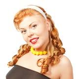 Portrait der schönen jungen reizvollen Frau Stockfotografie