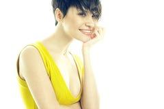 Portrait der schönen lächelnden Dame Lizenzfreie Stockfotografie