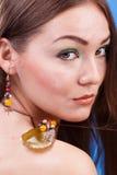 Portrait der schönen sinnlichen Frau Stockbilder