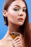 Portrait der schönen sinnlichen Frau Lizenzfreies Stockfoto
