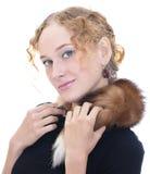 Portrait der schönen stilvollen Dame Stockfoto