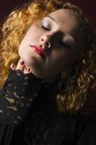 Portrait der schönen stilvollen Dame Stockbild