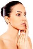 Portrait der schönen Badekurortfrau Stockbilder