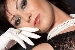 Portrait der schönen Frau Stockbild