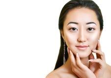 Portrait der schönen jungen asiatischen Frau Natürliche Verfassung Stockbilder