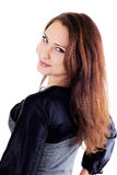 Portrait der schönen smilling Frau Lizenzfreies Stockfoto