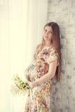 Portrait der schwangeren Frau Stockfoto