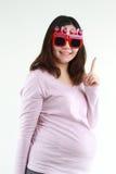 Portrait der schwangeren Frau Stockfotos