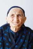 Portrait der sehr alten Frau stockfotos