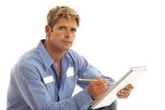 Portrait der Service-Arbeitskraft Stockfoto