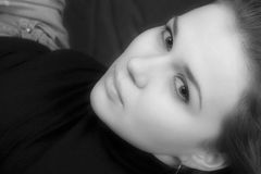 Portrait der sexuellen jungen Frau Lizenzfreie Stockbilder