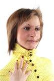 Portrait der sinnlichen jungen Frau Stockfotos