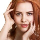 Portrait der sinnlichen kaukasischen jungen Frau Lizenzfreie Stockfotos