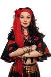 Portrait der sinnlichen Zigeunerfrau. Getrennt Lizenzfreie Stockbilder