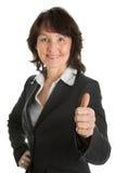 Portrait der sucessful älteren Geschäftsfrau Stockbilder