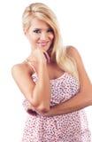 Portrait der wundervollen blonden Frauen Stockbilder