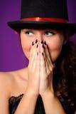 Portrait der youn Schönheitsfrau lizenzfreie stockfotos