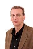 Portrait des älteren beiläufigen Typen weißer Mann des Geschäfts lizenzfreies stockbild