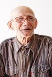 Portrait des Älteren in den Brillen stockfotografie